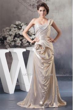 Ruffles Sleeveless One-Shoulder A-Line Prom/Formal Evening Dresses 02020545