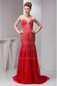 Chiffon Beading Brush Sweep Train Prom/Formal Evening Dresses 02020546