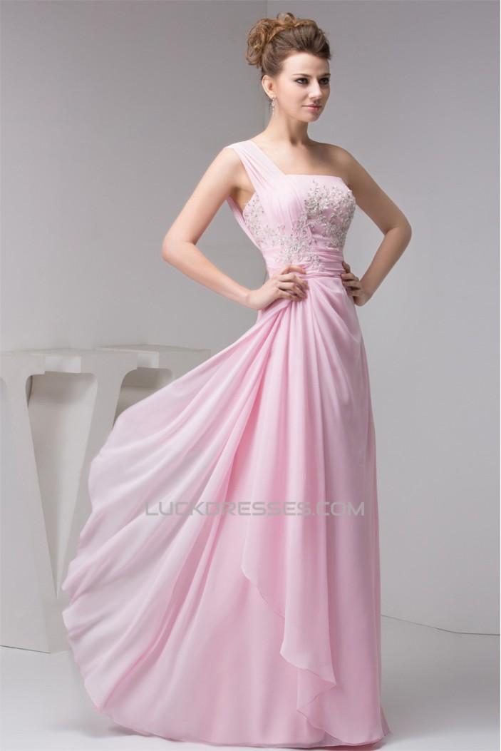 Sheath/Column Beading One-Shoulder Floor-Length Best Bridesmaid Dresses 02020556