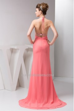Sheath/Column Brush Sweep Train Pleats Prom/Formal Evening Dresses 02020557