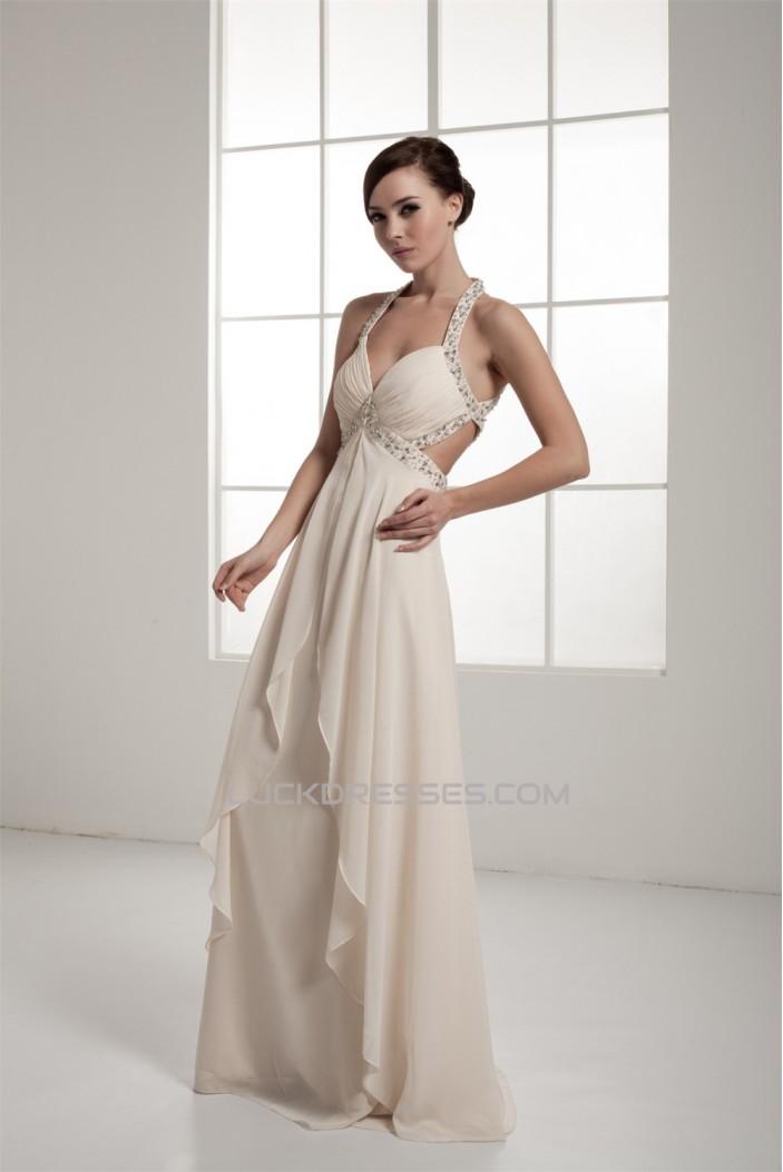 Sheath/Column Halter Sleeveless Beading Prom/Formal Evening Dresses 02020561