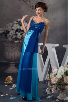 Sheath/Column Sleeveless Chiffon Silk like Satin Prom/Formal Evening Dresses 02020564
