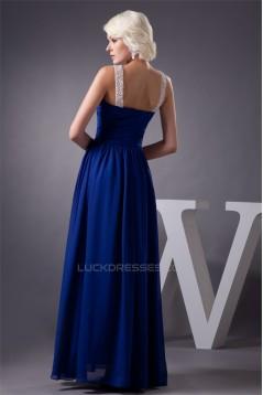 Sheer Floor-Length Beading Chiffon Fine Netting Prom/Formal Evening Dresses 02020565