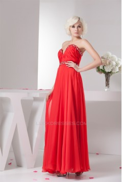 Sleeveless A-Line Ankle-Length Sweetheart Prom Evening Party Dresses 02020569