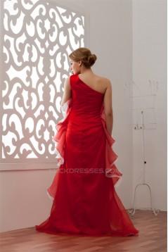 Sleeveless A-Line Floor-Length One-Shoulder Prom/Formal Evening Dresses 02020571
