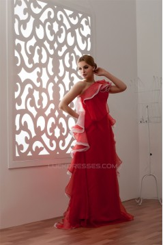 Sleeveless A-Line Floor-Length One-Shoulder Prom/Formal Evening Dresses 02020571