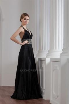 Sleeveless Beading Floor-Length Halter Sheath/Column Prom/Formal Evening Dresses 02020574