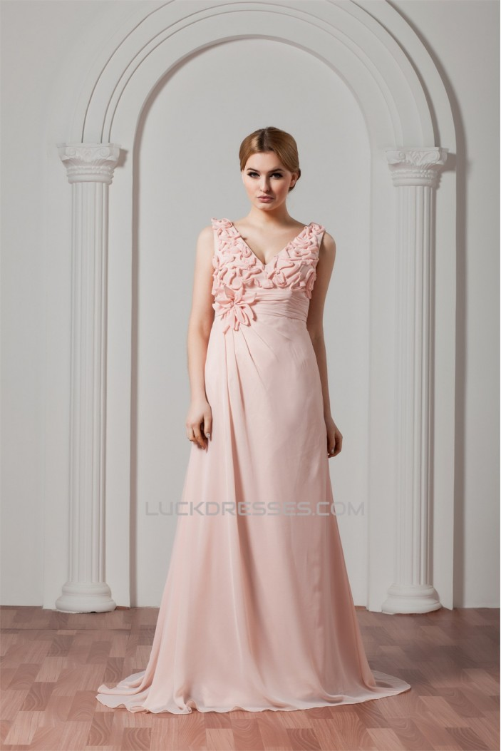 Sleeveless Chiffon Elastic Woven Satin A-Line Prom/Formal Evening Dresses 02020576
