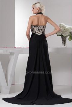 Sleeveless Chiffon Lace Silk like Satin Prom/Formal Evening Dresses 02020578