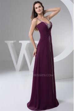 Sleeveless Chiffon Silk like Satin Sheath/Column Prom/Formal Evening Dresses 02020579