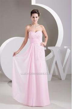 Sleeveless Chiffon Sweetheart Sheath/Column Prom/Formal Evening Dresses 02020580