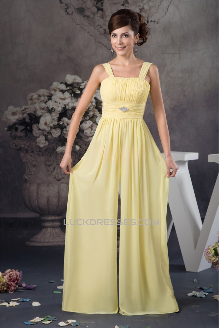 Sleeveless Floor-Length Sheath/Column Chiffon Silk like Satin Prom/Formal Evening Dresses 02020582