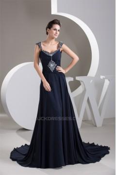 A-Line Beaded Long Chiffon Prom/Formal Evening Dresses 02020587