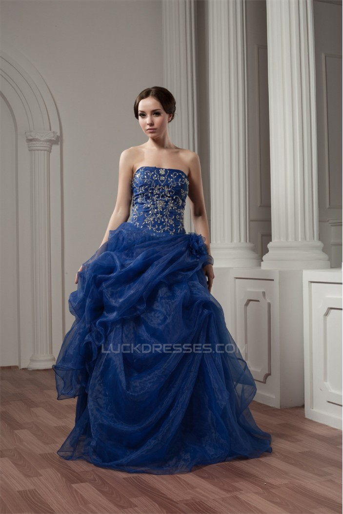 Sleeveless Ruffles Strapless Floor-Length Prom/Formal Evening Dresses 02020589