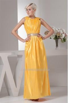 Sleeveless Satin Silk like Satin Sheath/Column Prom/Formal Evening Dresses 02020590