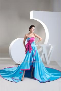 Strapless A-Line Sleeveless Satin Beading Prom/Formal Evening Dresses 02020594