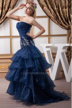 Sweetheart Mermaid/Trumpet Brush Sweep Train Prom/Formal Evening Dresses 02020598