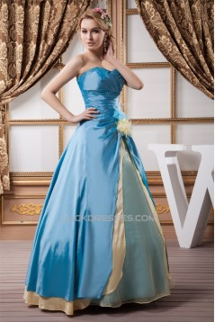 Sweetheart Ruched Satin Organza Silk like Satin Prom/Formal Evening Dresses 02020599