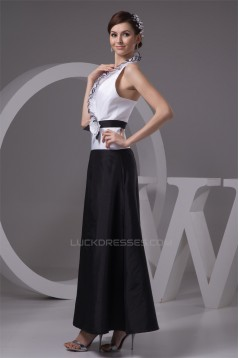 Taffeta Ankle-Length Handmade Flowers Prom/Formal Evening Dresses 02020600