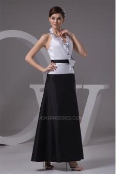 Taffeta Ankle-Length Handmade Flowers Prom/Formal Evening Dresses 02020600
