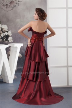 Taffeta Sleeveless Brush Sweep Train Scalloped Prom/Formal Evening Dresses 02020601