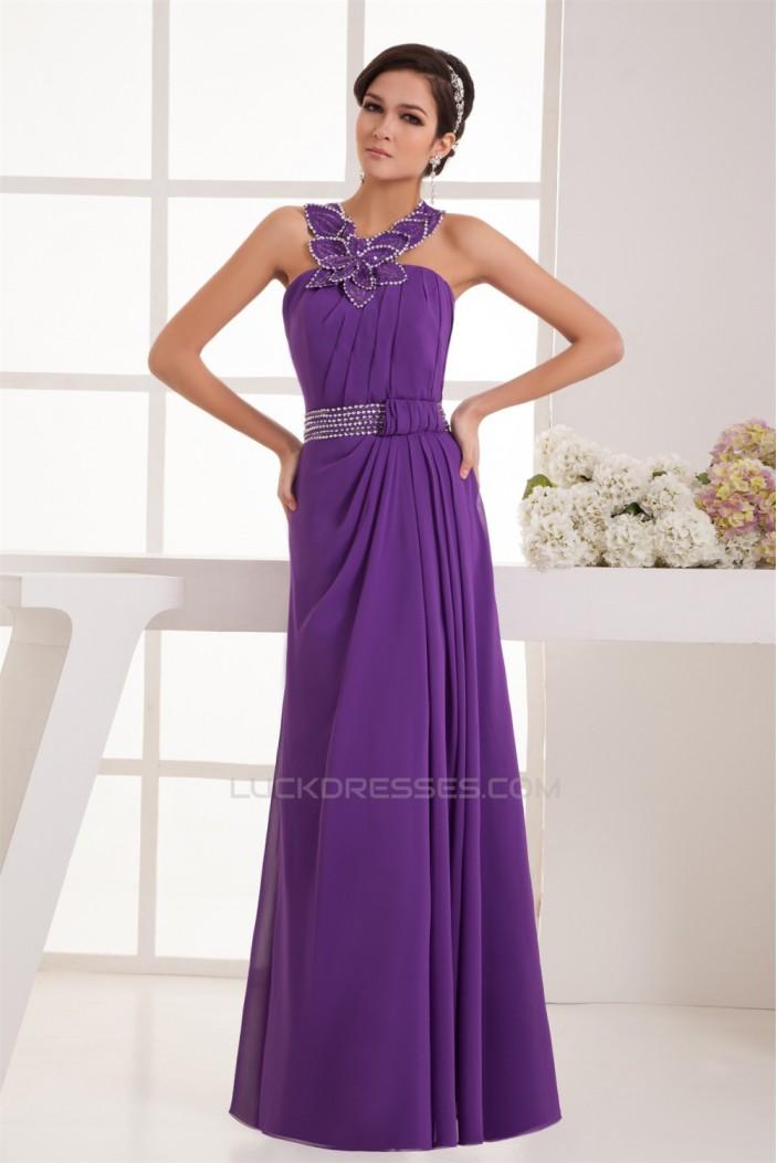 V-Neck A-Line Beading Sleeveless Chiffon Prom/Formal Evening Dresses 02020602
