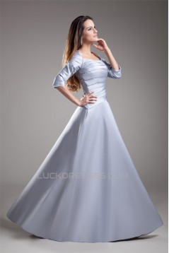 A-Line 3/4 Length Floor-Length Taffeta Square Prom/Formal Evening Dresses 02020607