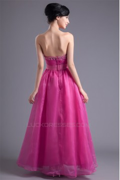 A-Line Beading Organza Elastic Woven Satin Prom/Formal Evening Dresses 02020610