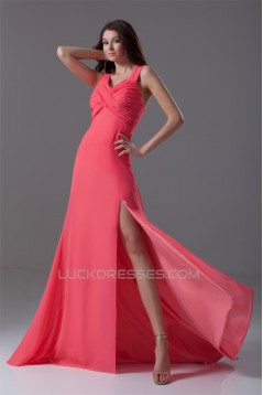 A-Line Chiffon Criss Cross Prom/Formal Evening Dresses 02020614