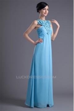 A-Line Chiffon Silk like Satin Embroidery Prom/Formal Evening Dresses 02020615