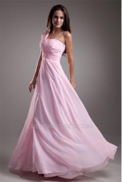A-Line Chiffon One-Shoulder Sleeveless Prom/Formal Evening Dresses 02020617