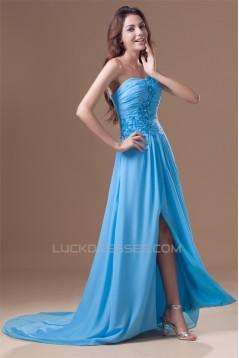 A-Line Chiffon Sleeveless Prom/Formal Evening Dresses 02020618