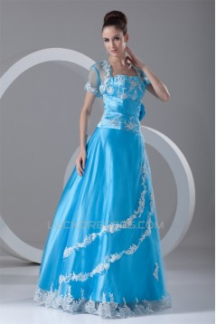 A-Line Floor-Length Sleeveless Strapless Prom/Formal Evening Dresses 02020622