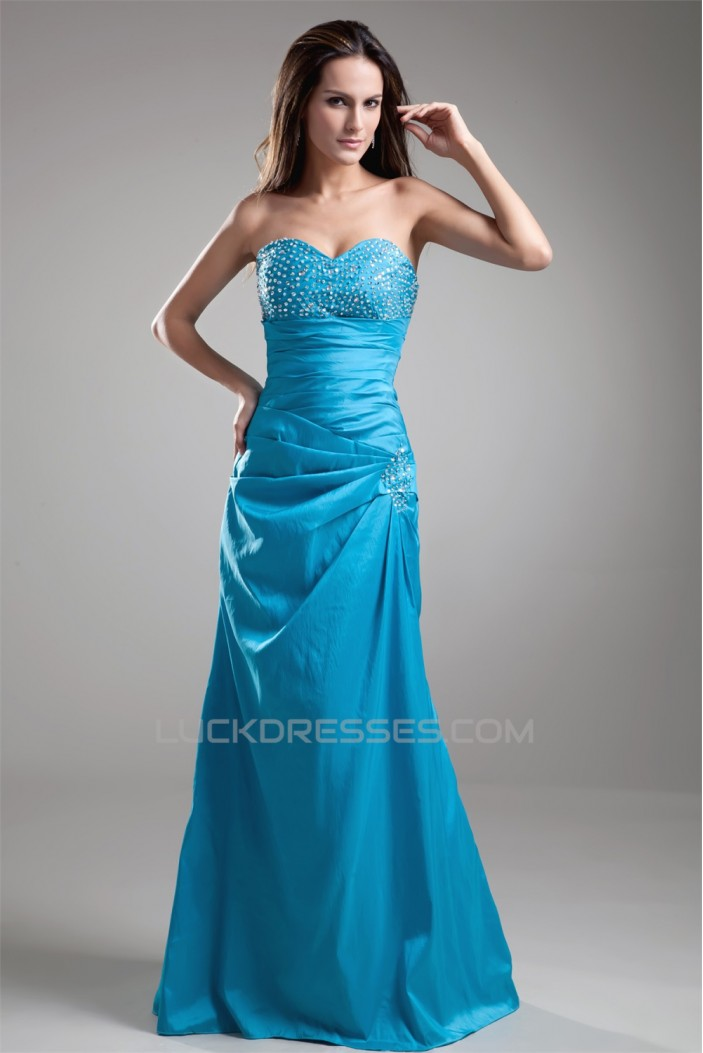 A-Line Floor-Length Sweetheart Sleeveless Prom/Formal Evening Dresses 02020623