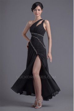 A-Line One-Shoulder Beading Sleeveless Chiffon Prom/Formal Evening Dresses 02020625