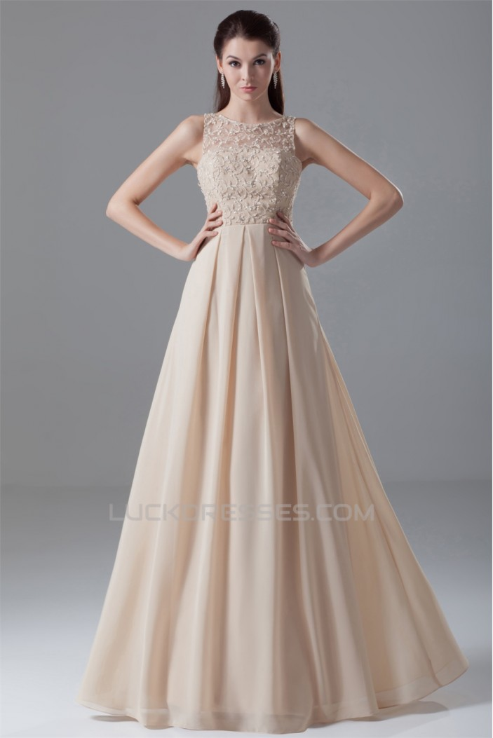 A-Line Sheer Beading Chiffon Prom/Formal Evening Dresses 02020627