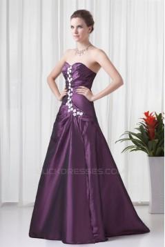 A-Line Sleeveless Sweetheart Taffeta Floor-Length Prom/Formal Evening Dresses 02020631