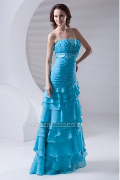 A-Line Strapless Chiffon Prom/Formal Evening Dresses 02020634