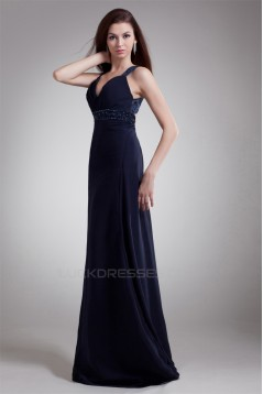 A-Line Straps Chiffon Prom/Formal Evening Dresses 02020636
