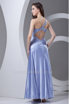 Ankle-Length Elastic Woven Satin Beading Prom/Formal Evening Dresses 02020642