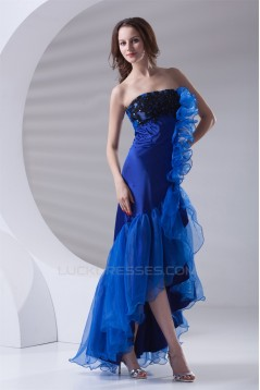 Asymmetrical A-Line Strapless Sleeveless Prom/Formal Evening Dresses 02020646