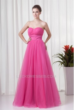 Ball Gown Pleats Floor-Length Sleeveless Prom/Formal Evening Dresses 02020649