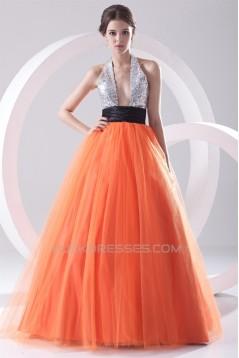 Ball Gown Sleeveless Floor-Length Halter Prom/Formal Evening Dresses 02020650
