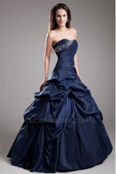 Ball Gown Taffeta Floor-Length Beading Sweetheart Prom/Formal Evening Dresses 02020652