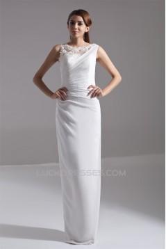 Bateau Sheath/Column Chiffon Prom/Formal Evening Dresses 02020653