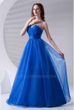 Beading A-Line Satin Organza Sweetheart Prom/Formal Evening Dresses 02020654