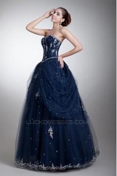 Beading Satin Net Sweetheart Ball Gown Sleeveless Prom/Formal Evening Dresses 02020663