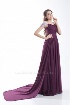 Beading Sheath/Column Chiffon Prom/Formal Evening Dresses 02020665