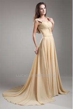 A-Line Straps Beading Sleeveless Chiffon Prom/Formal Evening Dresses 02020670