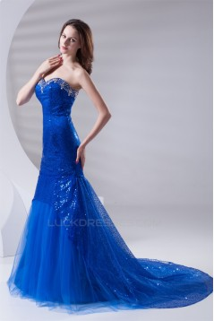 Beading Sleeveless Mermaid/Trumpet Sweetheart Sequins Prom/Formal Evening Dresses 02020675